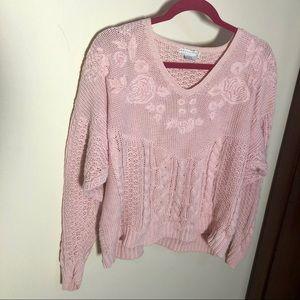 Vintage Pink Knit Sweater